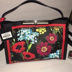 Floral print satchel